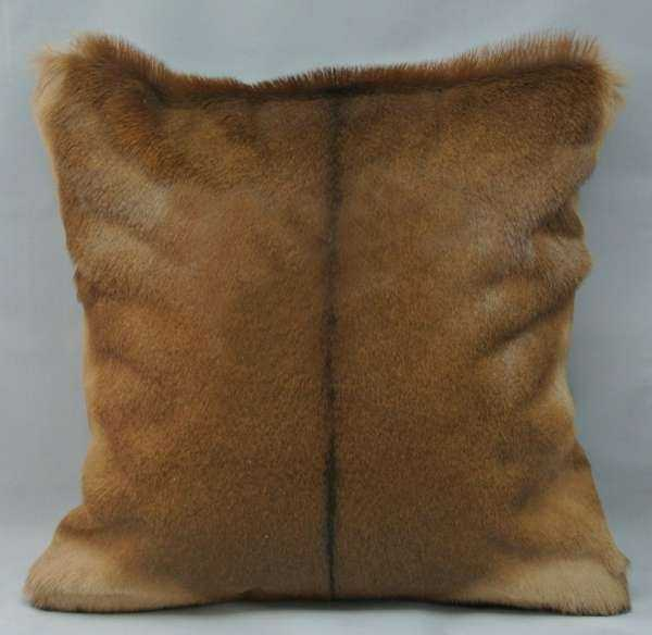 African Impala hide cushion
