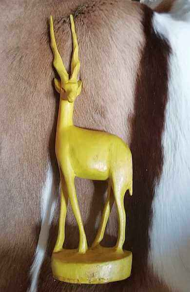 African hand carved wooden Impala