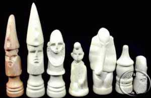 African Kenay chess set pieces
