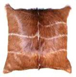 Kudu hide / skin cushion