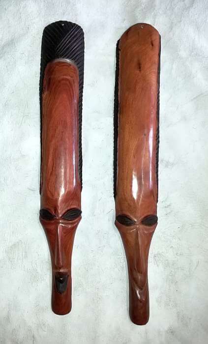 Long African mask pair