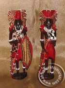 African Masai warrior couple Kenya