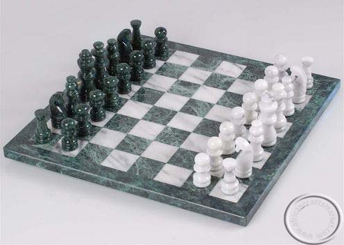 Marble stone hand carved chess set