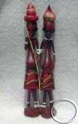 Wooden Masai couple carving
