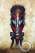 African fertility Zulu mask