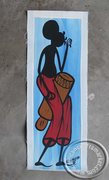 Zulu art painting - Zulu dancing music
