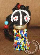 Ndebele beaded doll magnet