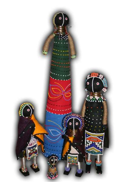 Ndebele beaded dolls