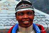Ndebele woman with rings around her neck