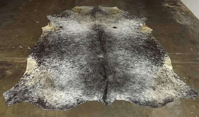 A Grade African Nguni Cow hide - Gray  white