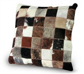 Nguni hide patch cushion