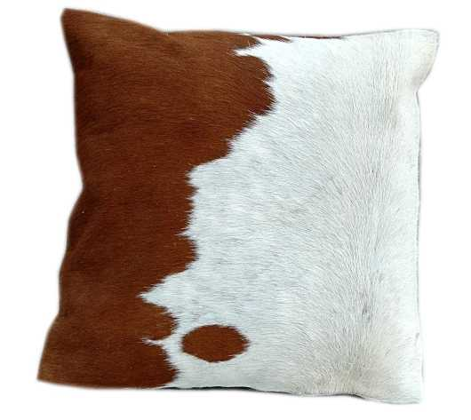 Nguni hide cushion-brown