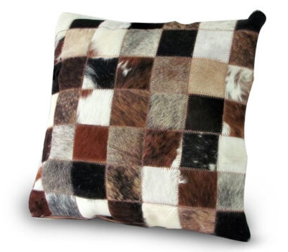 Nguni cow hide patch cushion