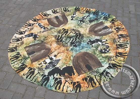 African round tablecloth