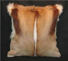 African animal hide cushions