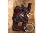 African Wood Standing Elephant