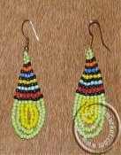 African Zulu beaded ear rings