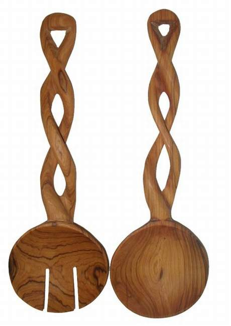 African Twisted Salad Servers