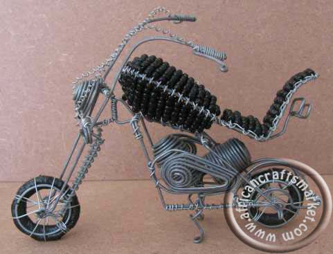 African wire Harley Davidson - Beaded
