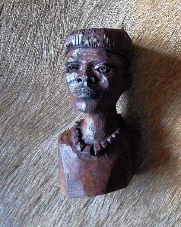 African wood carved Shona man