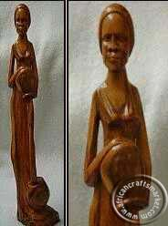 African wooden abstract woman