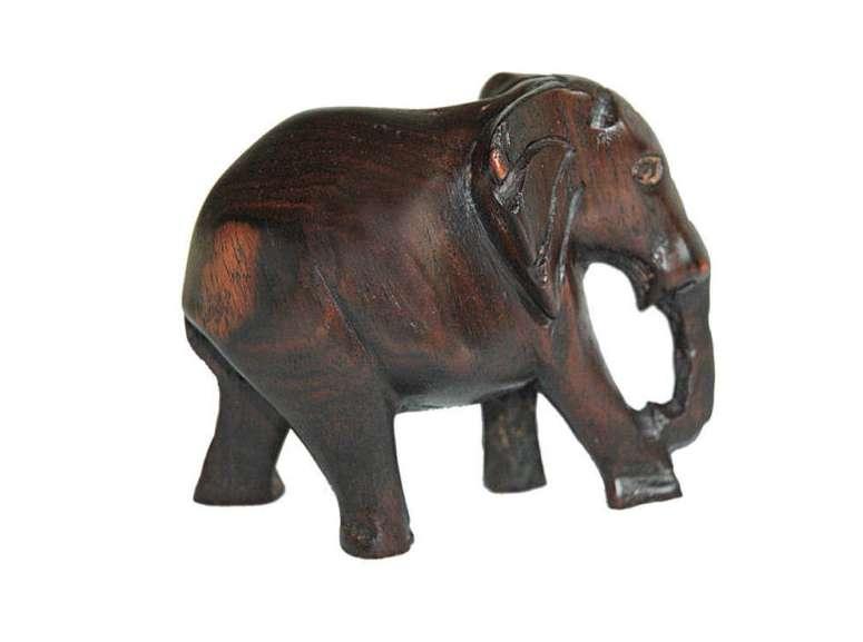 African Hand Carved Big 5 Set Ebony Wood