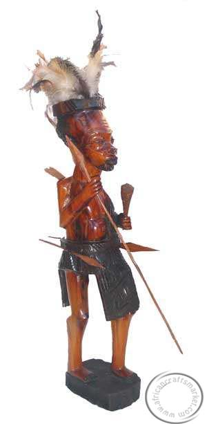 Wooden Zulu warrior