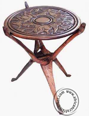 African interwoven table