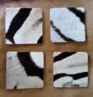 Zebra hide coasters