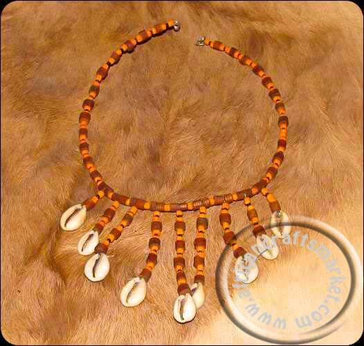 African Cowrie shell necklace