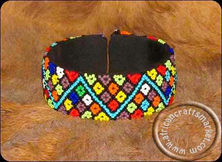 African Zulu necklace - colourful