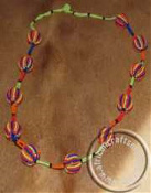African Zulu Beaded Ball Necklace
