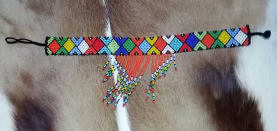 African Zulu beaded necklace