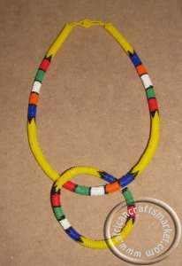 African handcrafted Zulu necklace set
