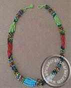 Zulu beaded rope necklace - colorful