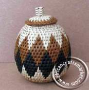 African grass basket pot