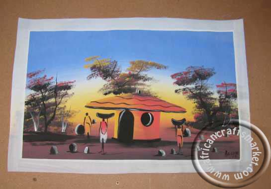 Zulu painting -village