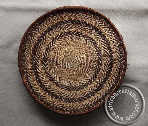 African hand woven traditional Zulu basket