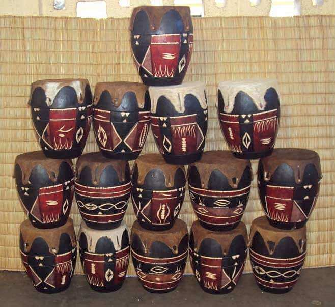 African Zulu /Swazi drums small