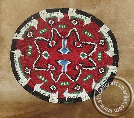 African colorful woven wire plate