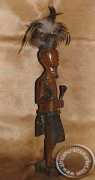 Wooden Zulu Warrior With Spear