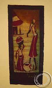 batik art working women wall hanging