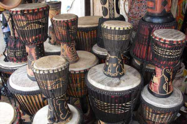 African Djembe drums