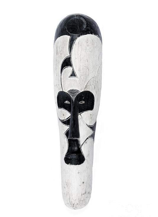 African white and black Fang mask
