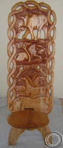 Africanhand Carved Chair