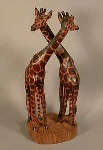 African Hand carved wooden animals