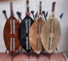 African warrior shields